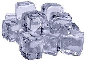 Eiswürfel mit Osmosewasser